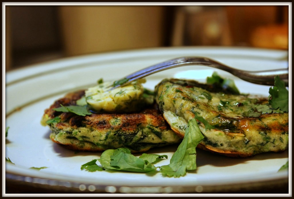 Grønne pandekager med limesmør