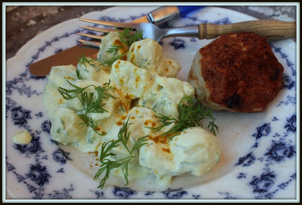 Mors kolde kartoffelsalat