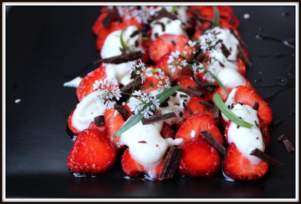Jordbærcarpaccio.